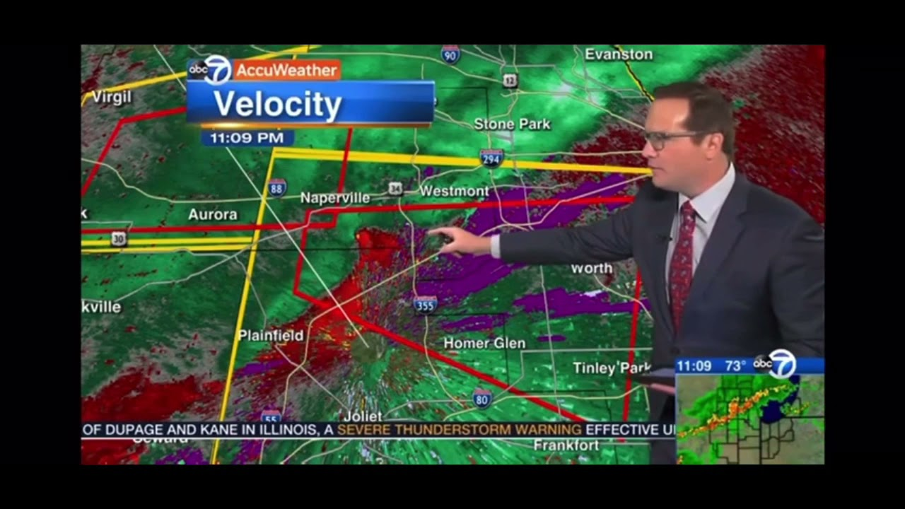 Tornado Warning issued for DuPage, Kane counties until 7:30 p.m.