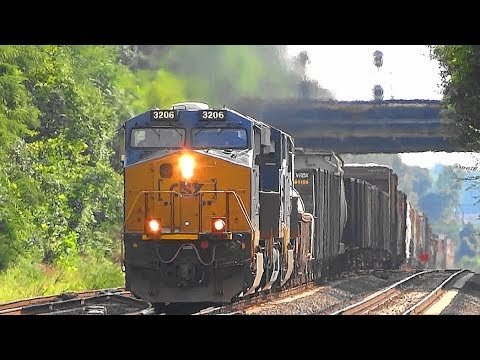 Thumbnail: CSX Q301 Mixed Manifest Freight Train Thru St Denis