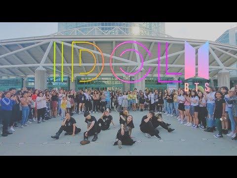 [EAST2WEST] Dancing Kpop In Public Challenge: BTS (방탄소년단) - IDOL