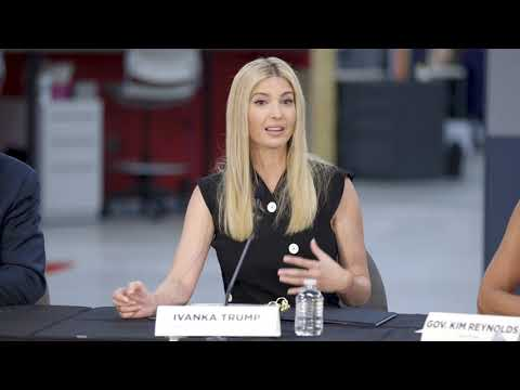 Ivanka Trump Visits The Hy-Vee Innovation Center In Iowa