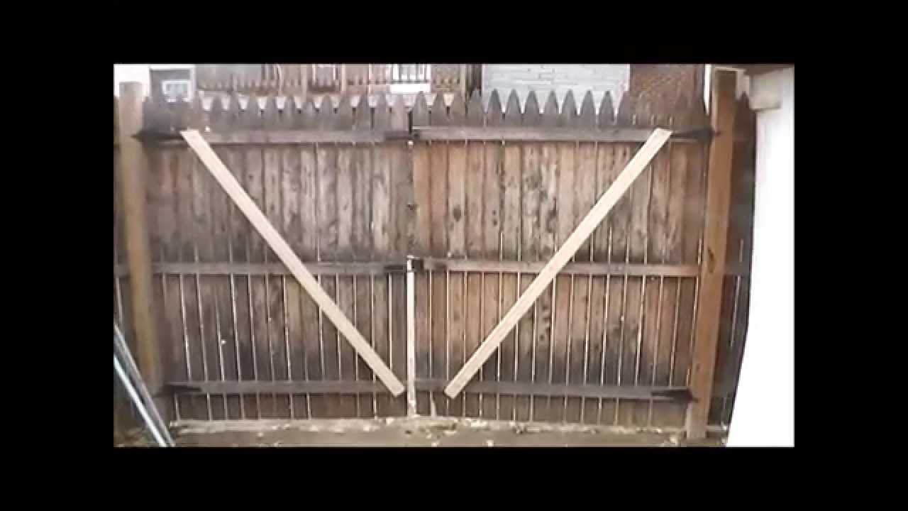 How to repair a sagging gate door youtube for Door to gate telefonnummer
