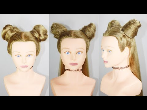 3 Types Of Space Bun Titorial Baby Hair Style Hair Style Girl Girl