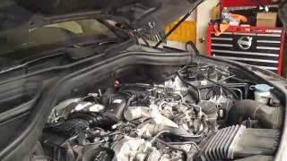 Merecedes ML350 W166 Bluetec Oil change, engine air filter, cabin filter and DEF fluid.