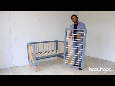 How To Assemble Babyhood Riya Cot- Dropside Installation Demo