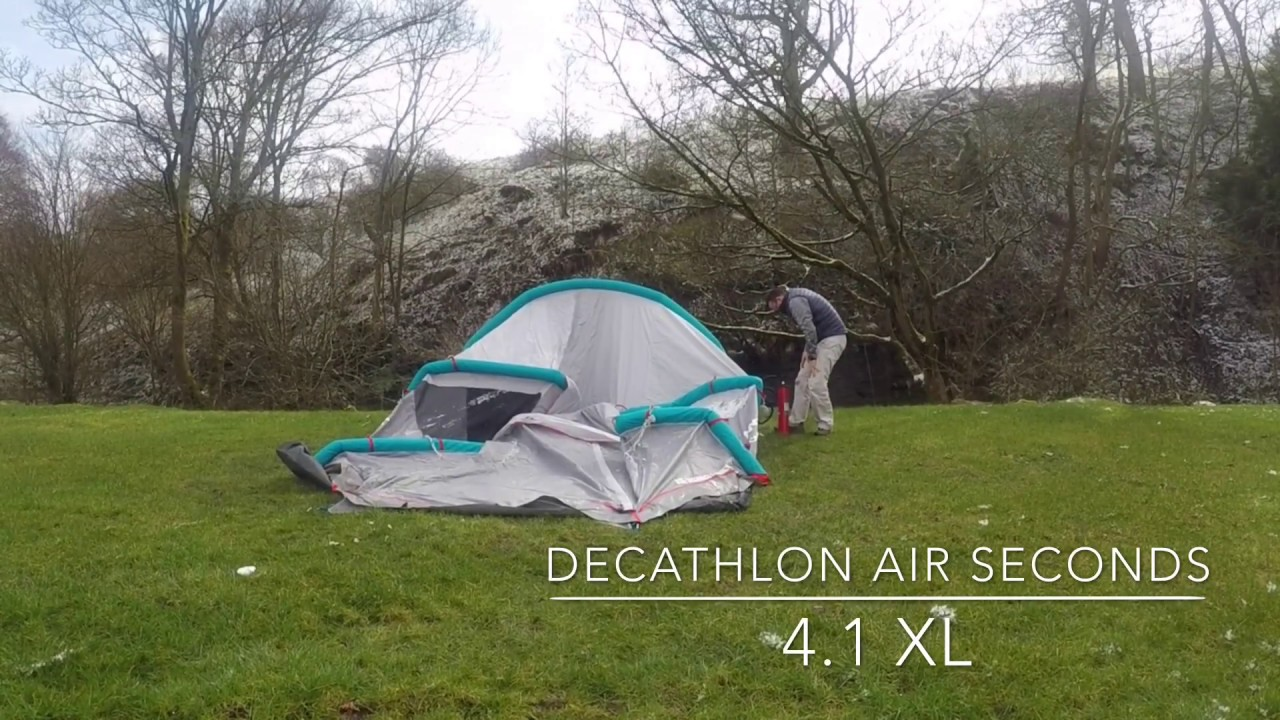 a5671d6c7319c Quechua Air Seconds 4.1 XL Family Camping Tent - putting it up by Miss  Wheezy