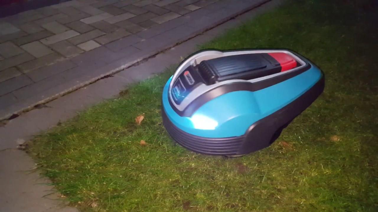 Lieblings Gardena R70Li mit Beleuchtung und Robonect Wlan Modul,Automower &ES_09