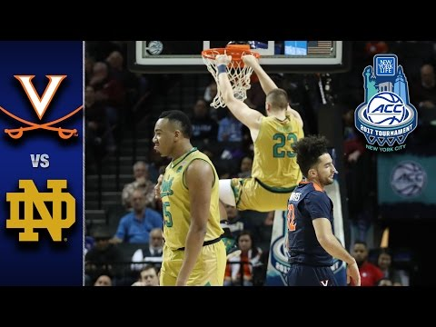 Virginia vs. Notre Dame 2017 ACC Tournament Highlights