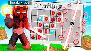 CRAFTING A LIGHTSABER IN MINECRAFT! (powerful)