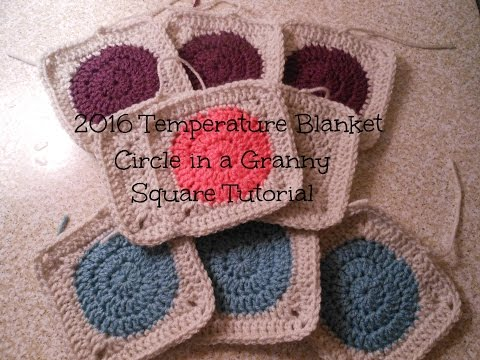 2016 Temperature Blanket Granny Square Tutorial | Allison Rae Crochet