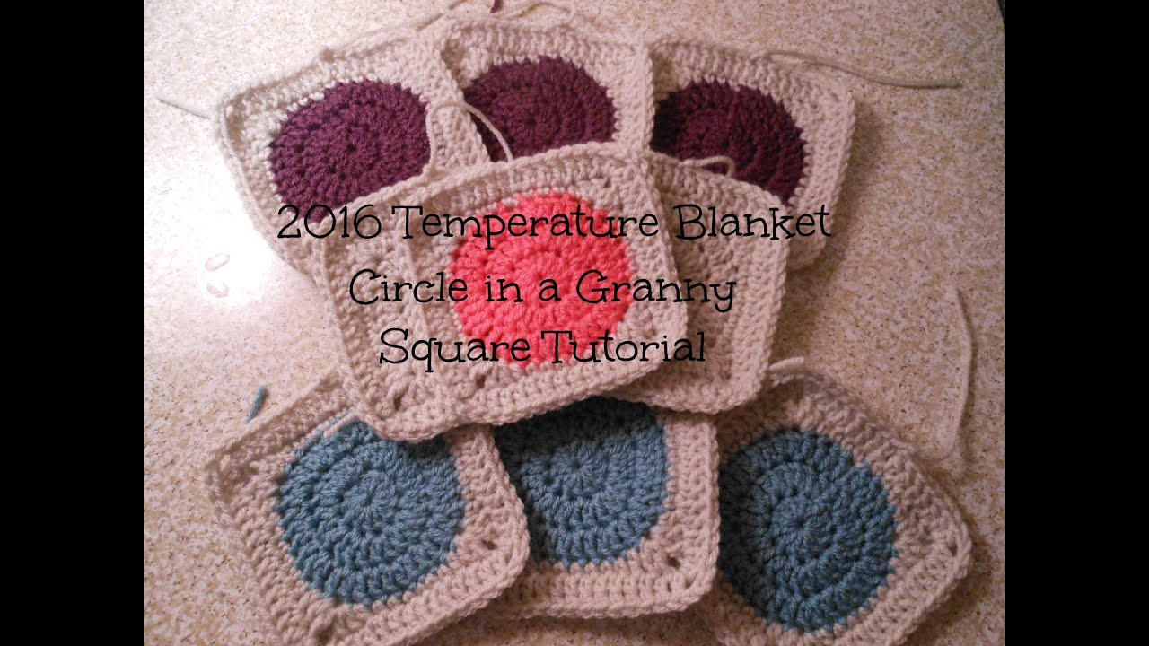 Crochet Patterns For Temperature Blanket : 2016 Temperature Blanket Granny Square Tutorial Allison ...