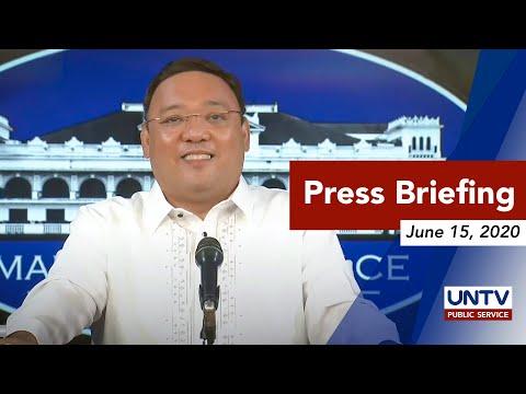 Harry Roque press briefing | Monday, June 15, 2020