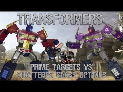 Transformers: Prime Targets VS. Shattered Glass Optimus Prime