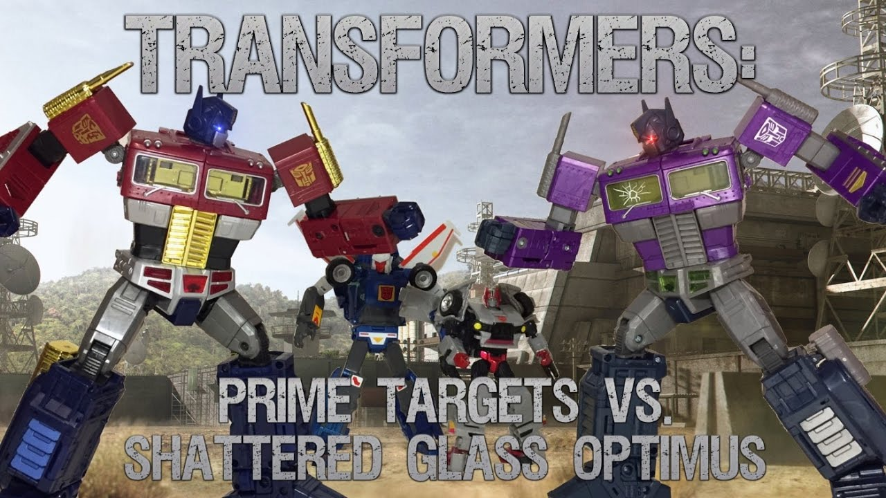 transformers prime targets vs shattered glass optimus prime part 1 2 youtube. Black Bedroom Furniture Sets. Home Design Ideas