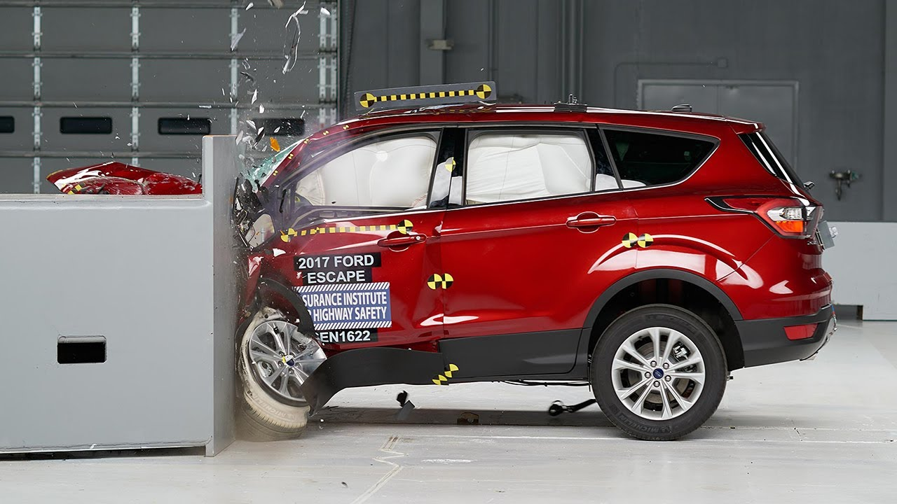 2017 Ford Escape Driver Side Small Overlap Iihs Crash Test