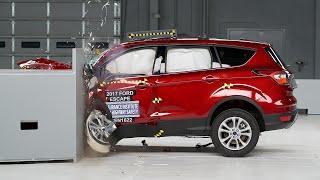 2017 Ford Escape small overlap IIHS crash test