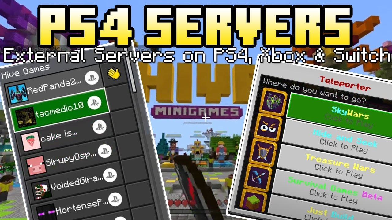 Minecraft Bedrock: HOW TO PLAY ON EXTERNAL SERVERS ON PS4