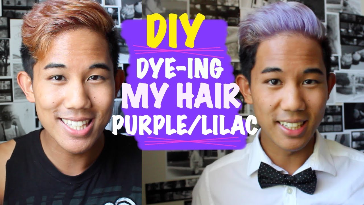 Purple highlights on an asian boy