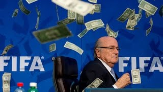 FIFA's Blatter Showered With Money at Press Conference