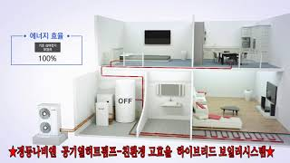 05 경동나비엔  공기열히트펌프 친환경 고효율  하이브…