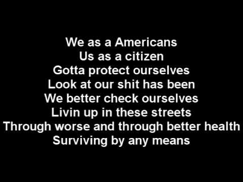 Eminem   We As Americans Lyrics On Screen