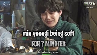 [BTS] - a video of min yoongi being soft and caring for 7 minutes