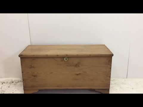 Early Victorian Pine Coffer - Pinefinders Old Pine Furniture Warehouse