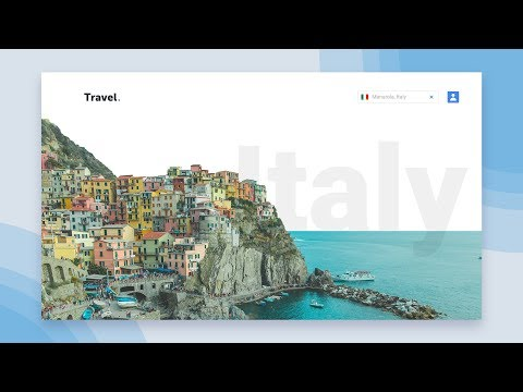 Web Design Speed Art – Travel Website (Photoshop/ Xd)