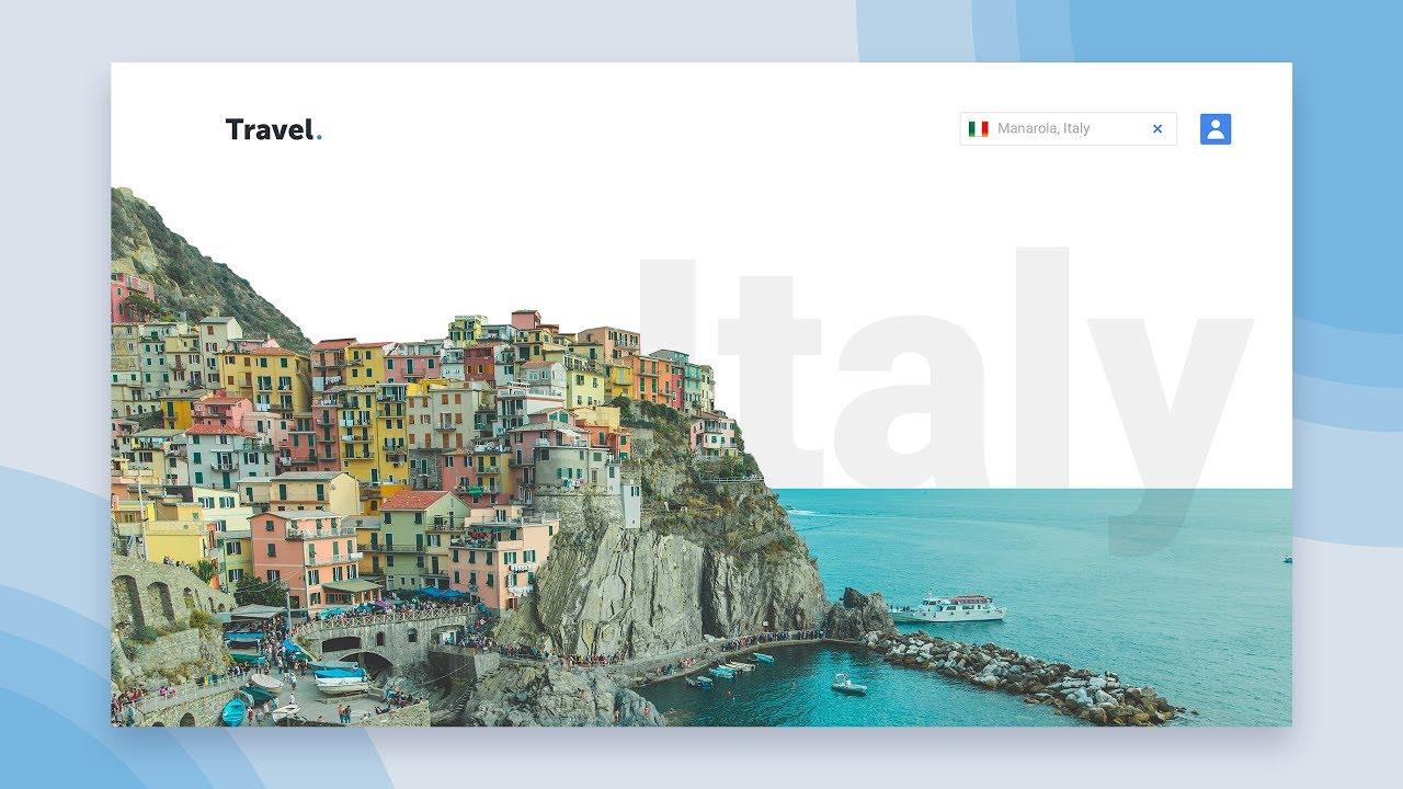 Web Design Speed Art - Travel Website (Photoshop/ Xd)