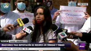 En Vivo - Reacciones tras deportación de menores por parte de Trinidad y Tobago