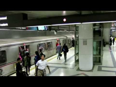 Entering Pershing Square Station, Los Angeles Metro Rail