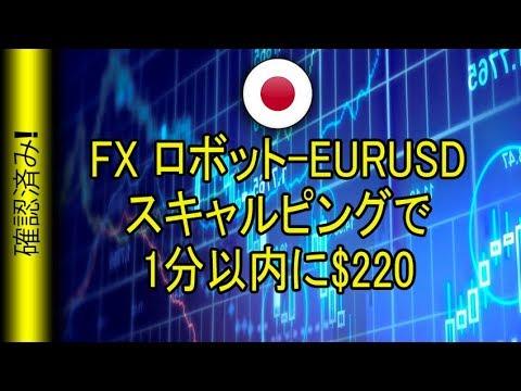 FX ロボット-EURUSDスキャルピングで1分以内に$220