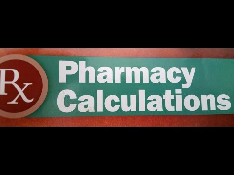 Pharmacy Calculations #37 Medication Labels