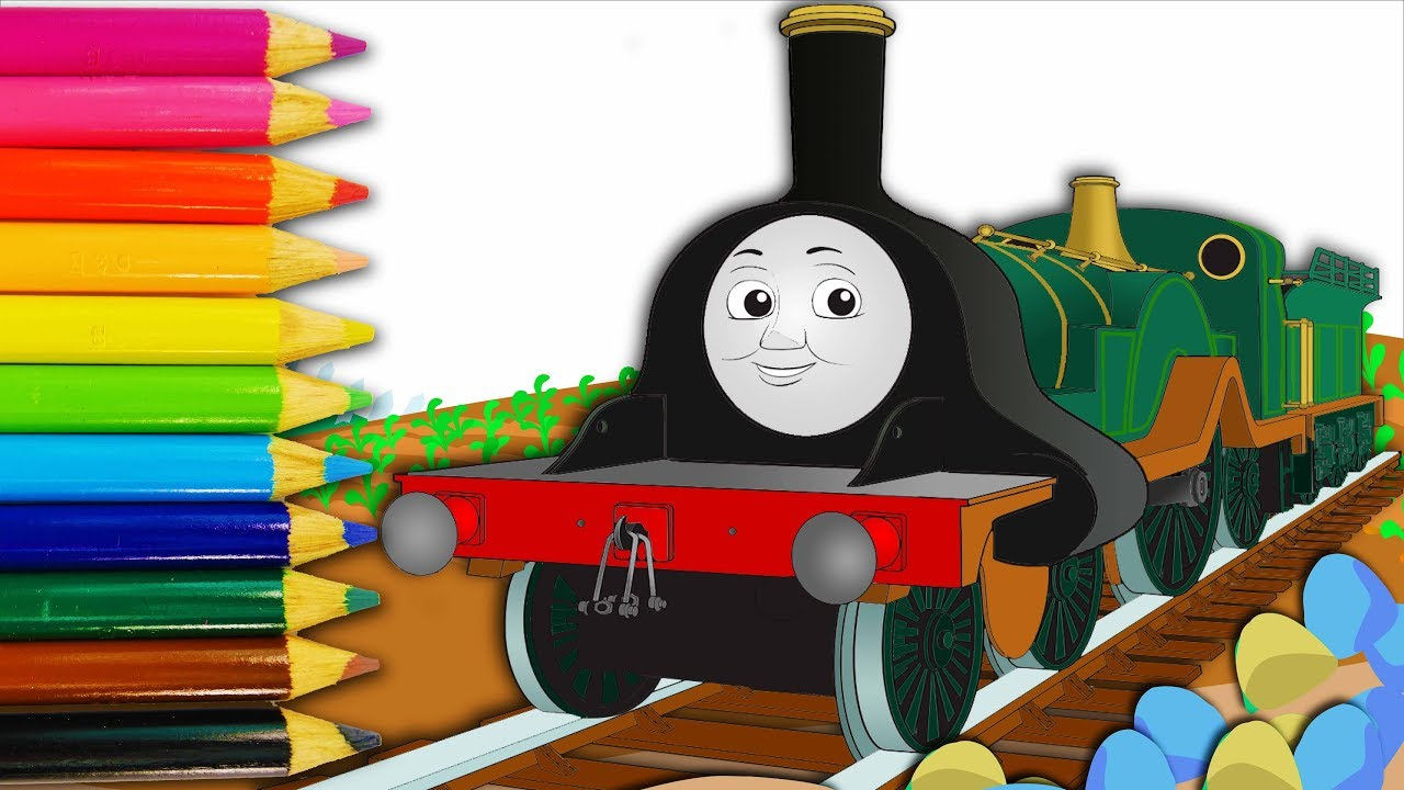 Learn Colors With Emily Train Thomas And Friends Coloring Page For Kids