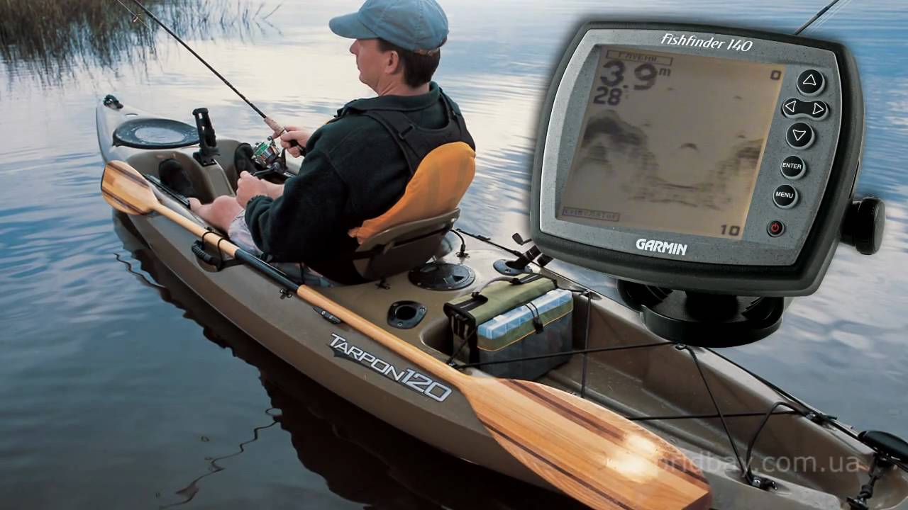 Эхолот garmin fishfinder 140 - YouTube