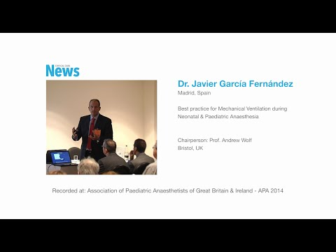 Best practice for mechanical ventilation, neonatal & pediatric anesthesia. Prof. J García Fernández.