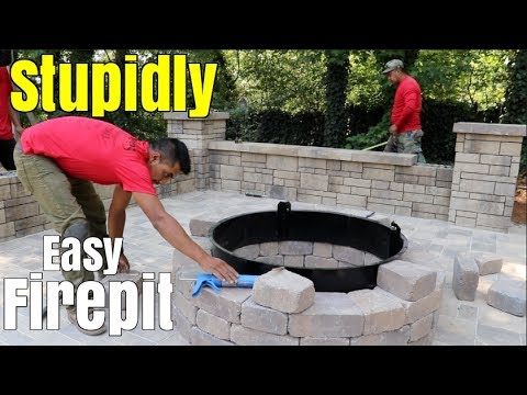 Super Easy Fire Pit Build Diy How To Build A Patio