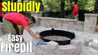 diy how to build a patio firepit