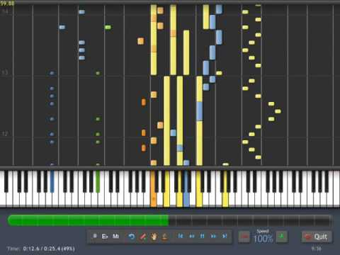 Diamond Rush - Main Menu (MIDI Create -Synthesia) java mobile edition