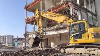 Komatsu 22Bus LC chantier de démolition à Delémont
