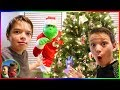 The Grinch In Real Life!  Dad Turns Into The Grinch! / Steel Kids