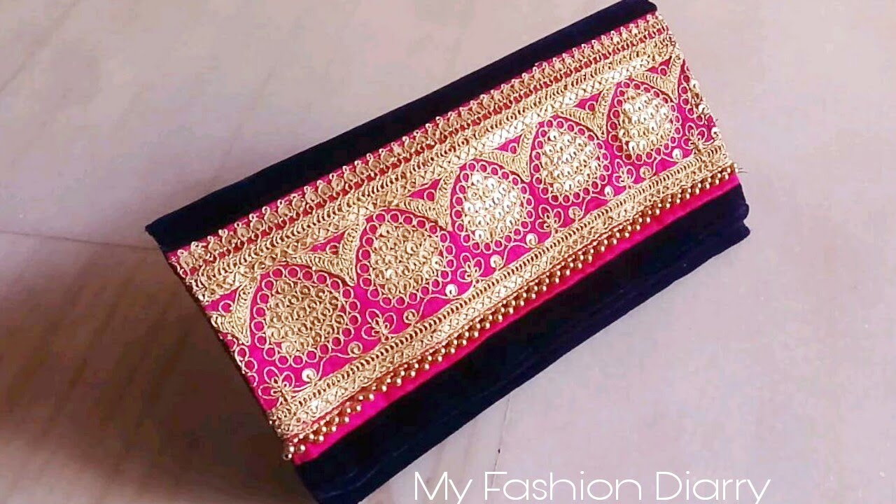 48ddc61e38 How to make beuatifull purse from left fabric.DIY - YouTube