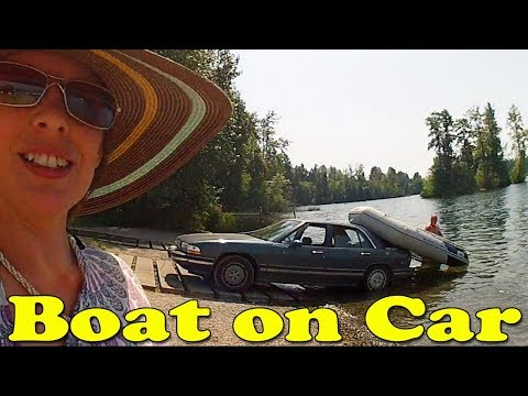 Loading Raft Boat On A Car By Yourself LIKE A BOSS!!