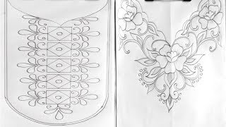 6 рука шия візерунок вишивки для сукні, вишивки,урок малювання,गर्दन डिजाइन पैटर्न
