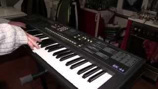 synthétiseur ELKA  EK 44   écoute du son et démonstration