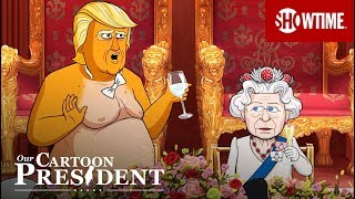 'Inside Cartoon Trump's Royal Dinner With The Queen' Ep. 205 Cold Open | Our Cartoon President Cartoon President Trump and his family visit the United Kingdom to toast the Queen, plus address the Cartoon Meghan Markle and Cartoon John McCain ..., From YouTubeVideos