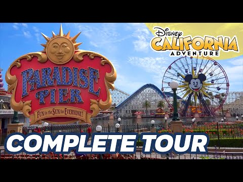 Complete Tour of Paradise Pier, Disney California Adventure Theme Park