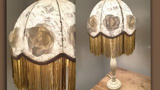 how to make a large silk rose lampshade