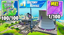 I Got 100 Fans to Compete by ONLY Landing at STEAMY STACKS! (I WON again!)