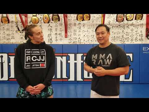 Zhong Luo Cage Fighting Series 02/MFC 11/13/2021 Olivia Kendall Pre fight interview.