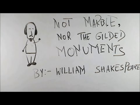 Not Marble , Nor The Gilded Monuments - BKP | class 10 cbse english poem | by william shakespeare